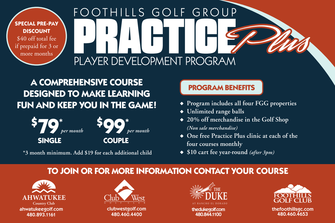 Practice Plus Program flyer